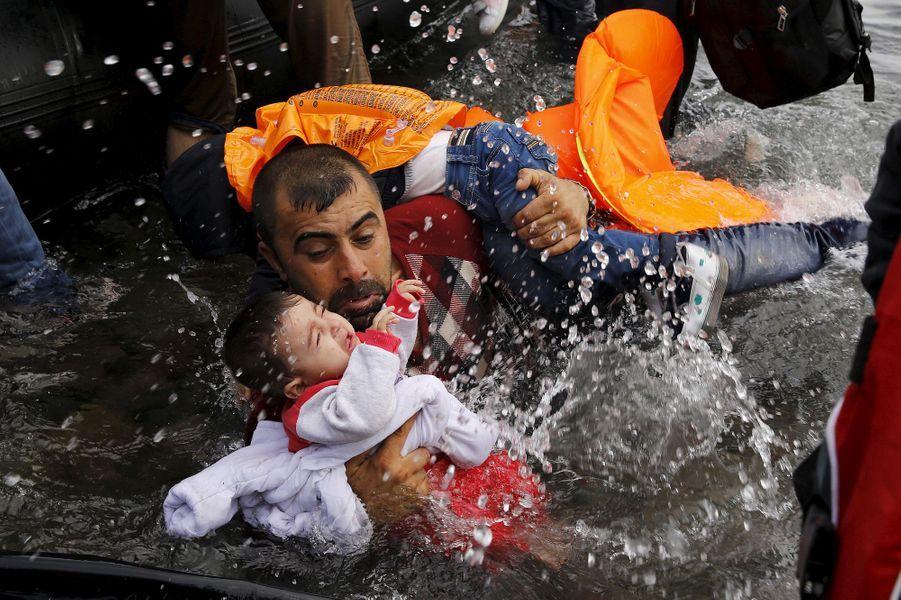 Photo prise à Lesbos, le 24 septembre