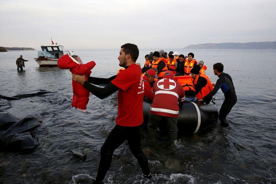 Photo prise de Lesbos le 16 novembre 2015