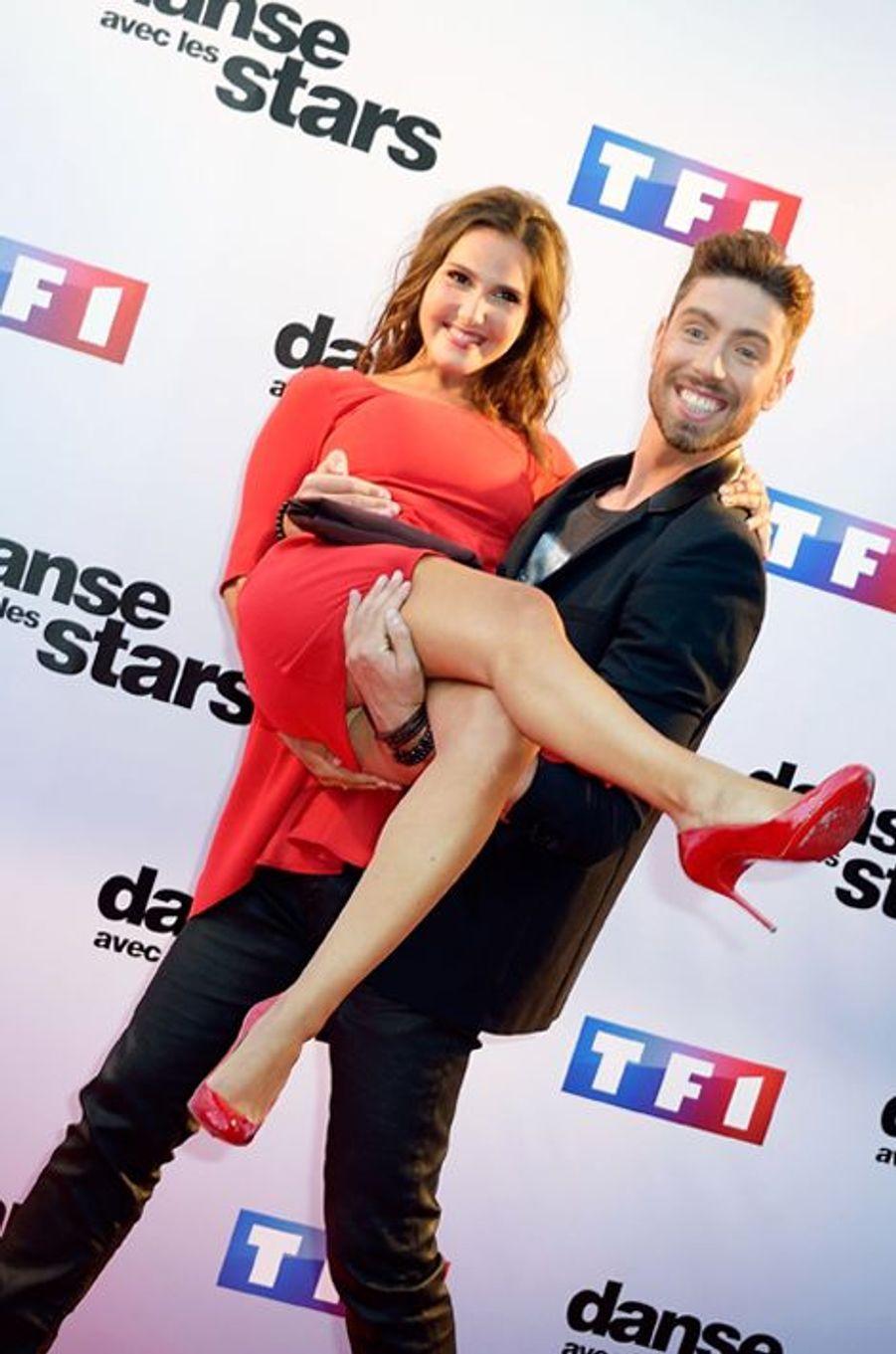 Danse avec les stars 5 : la chanteuse Joyce Jonathan et le danseur Julien Brugel