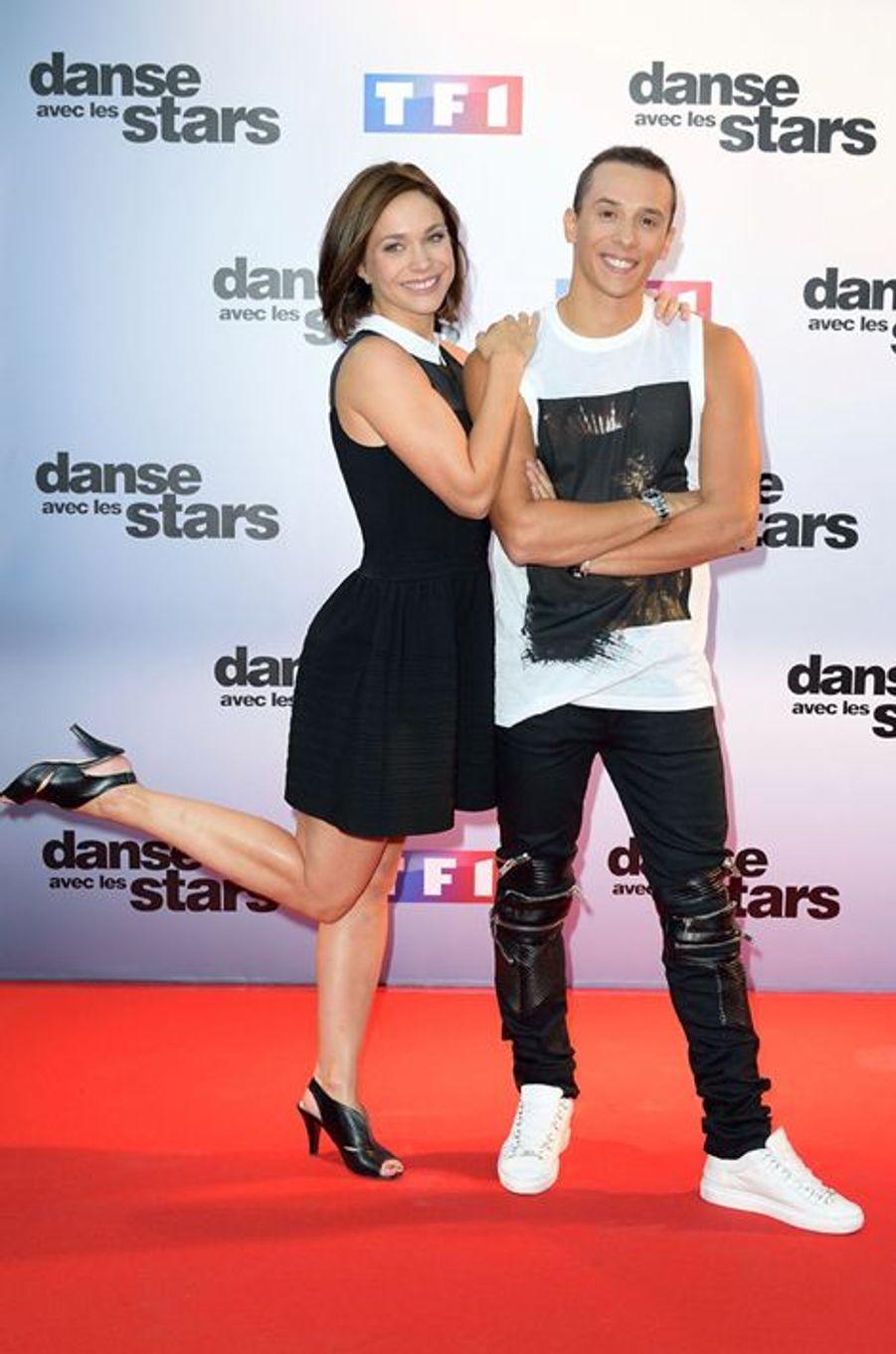 Danse avec les stars 5 : la patineuse Nathalie Péchalat et le danseur Grégoire Lyonnet.