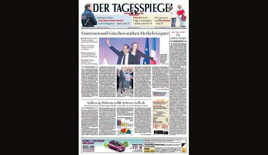 L'adversaire de Merkel pour Der Tagespiegel (Allemagne)