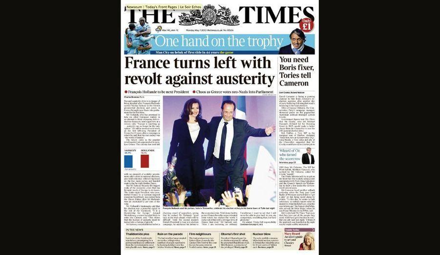 La France tourne à gauche pour The Times (Angleterre)