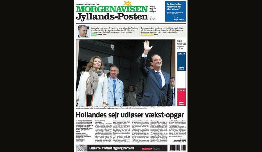 La victoire de Hollande pour Morgenavisen Jyllands-Posten (Danemark)
