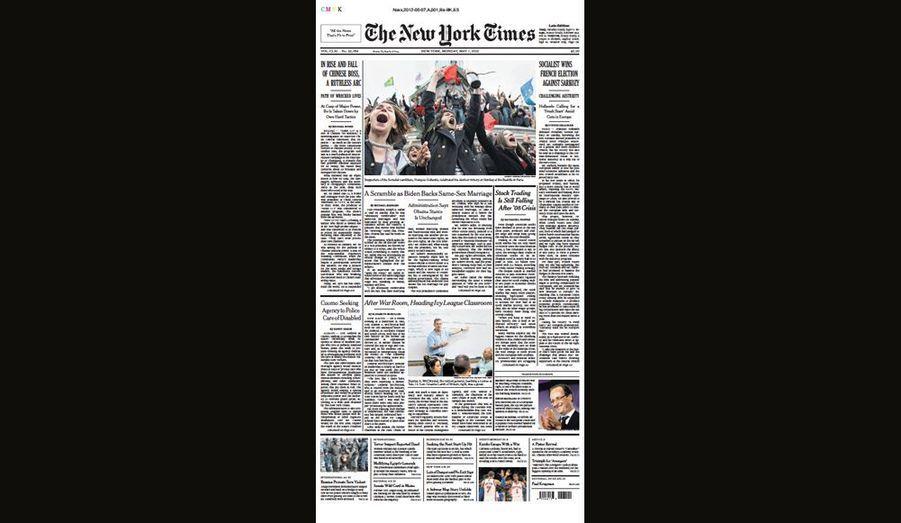 Les socialistes gagnent contre Sarkozy pour le New York Times (Etats-Unis)