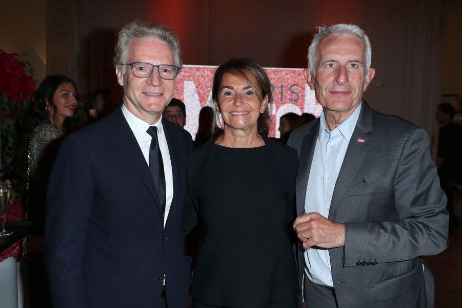 Olivier Royant, Constance Benqué et Guillaume Pepy.