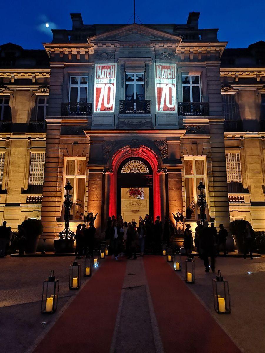 La façade du cadre prestigieux de l'hôtel Salomon de Rothschild à Paris.