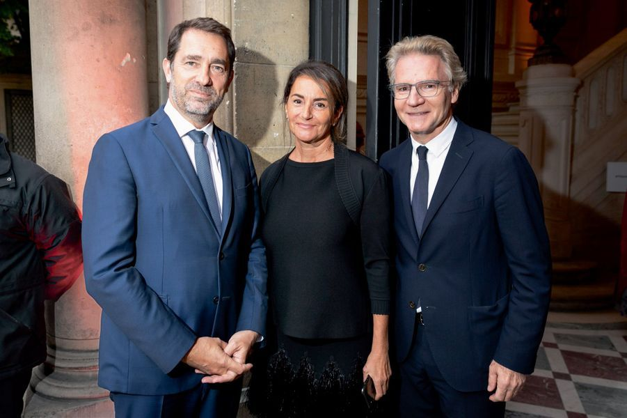Christophe Castaner, ministre de l'Intérieur, Constance Benqué et Oliver Royant.