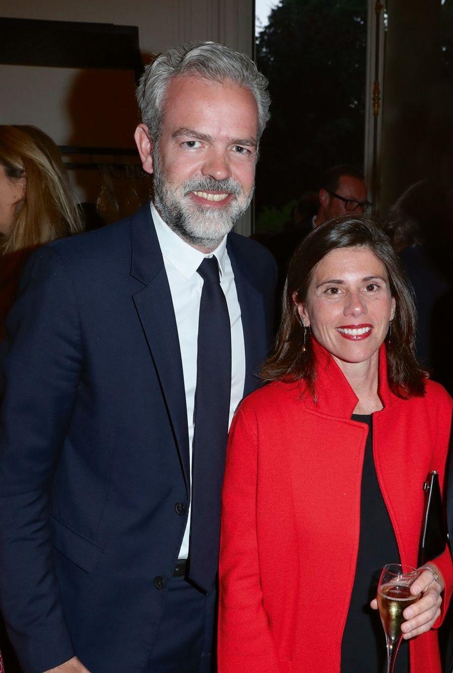 Sébastien Missoffe, directeur général de Google France, et son épouse Cristina.
