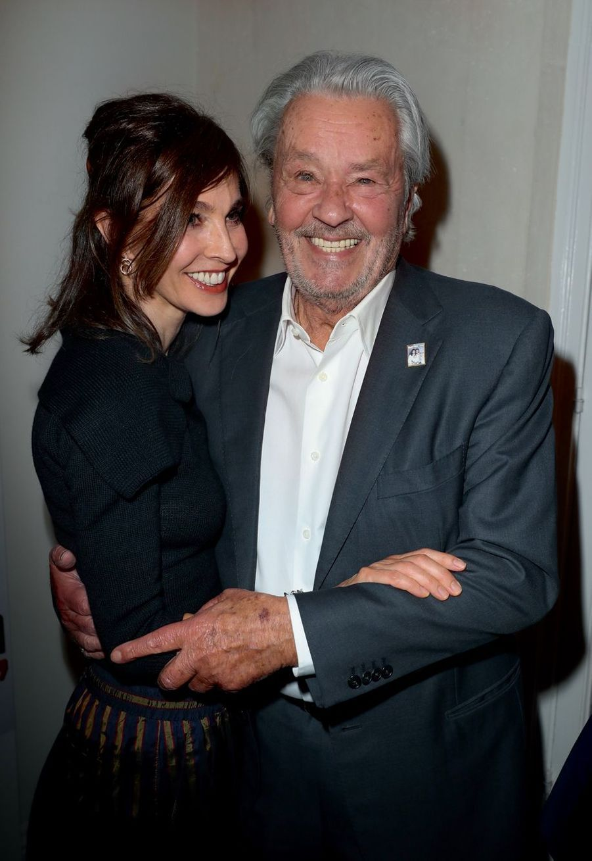 Anne Parillaud et Alain Delon.