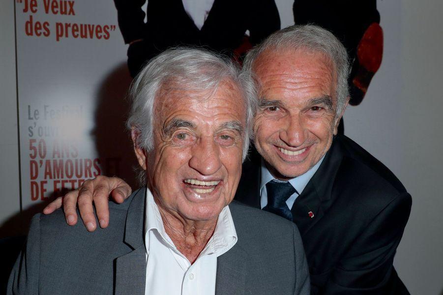 Jean-Paul Belmondo et Alain Terzian, président de l'Académie des César.