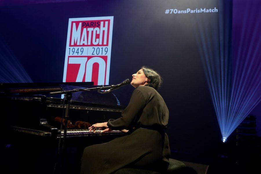La chanteuse Nach.