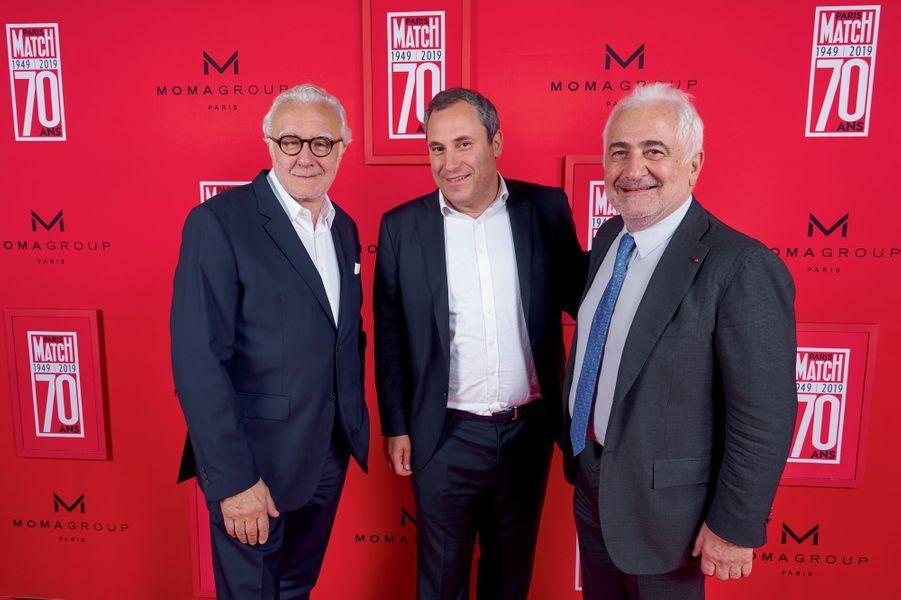 Alain Ducasse, Benjamin Patou, président du groupe Moma, et Guy Savoy.