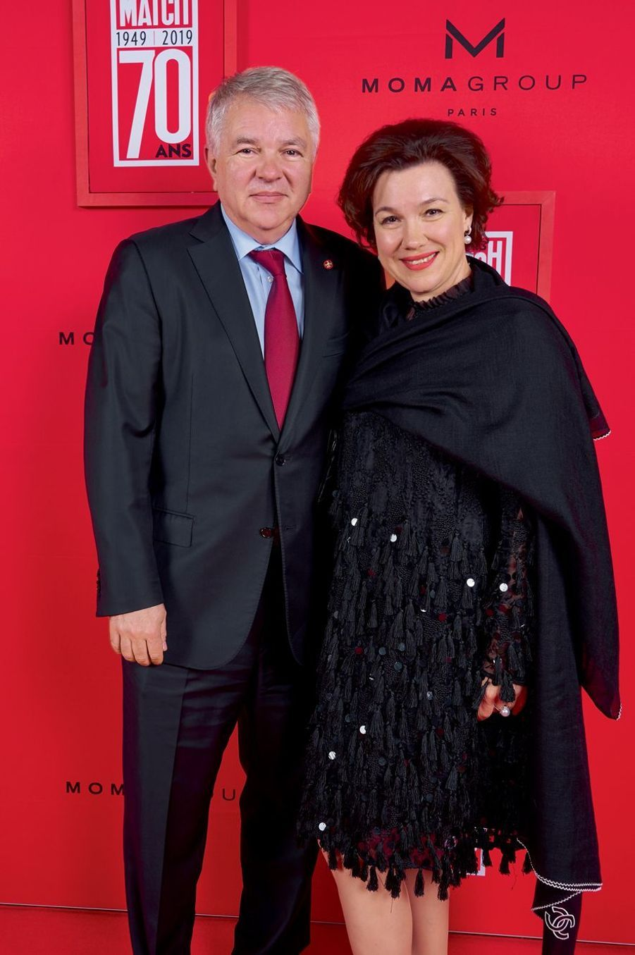 L'ambassadeur de Russie Alexei Mechkov et son épouse Galina.