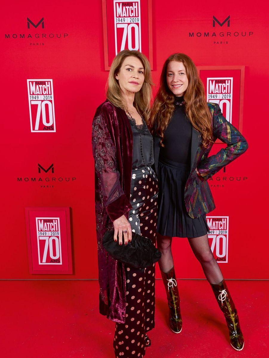 Valérie Kaprisky et l'actrice Marie-Clotilde Ramos-Ibanez.