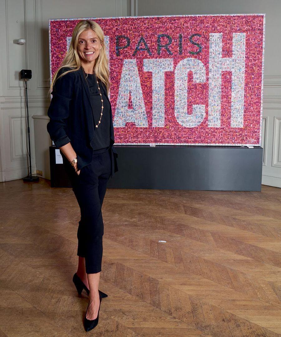 L'artiste Chloé Bolloré qui a réalisé notre affiche avec 2972 couvertures de Match.