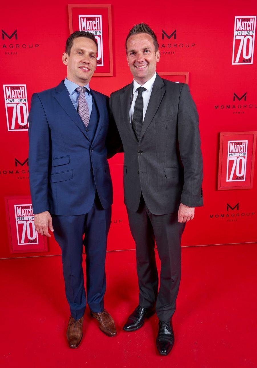 L'ambassadeur d'Australie Brendan Berne et son conjoint Thomas Marti.