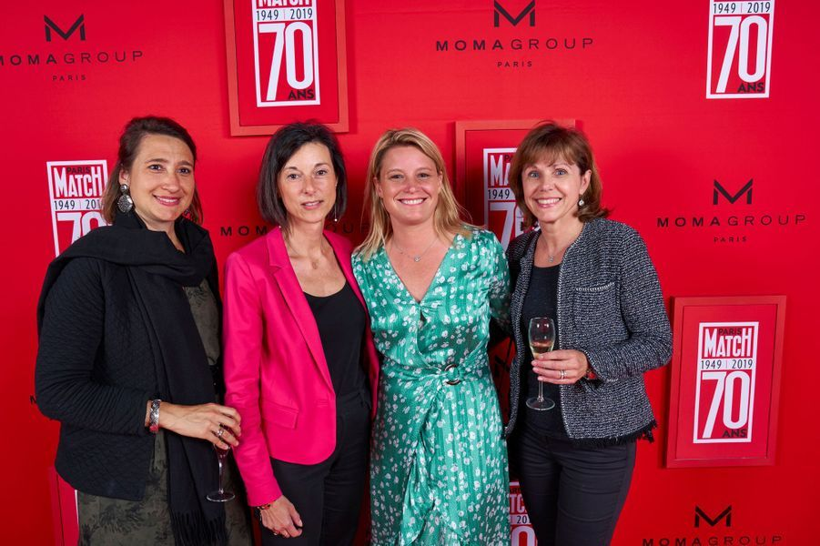 Marie Pamart (Groupe Joseph Perrier), Anne Laure Domenichini (Champagne Nicolas Feuillatte), Sophie Duval, Nathalie Doucet (Champagne Gosset).