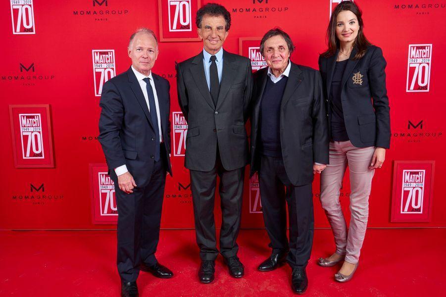 Philippe Legrand (Paris Match), Jack Lang, Imbert Ibach et Patricia Ibach.