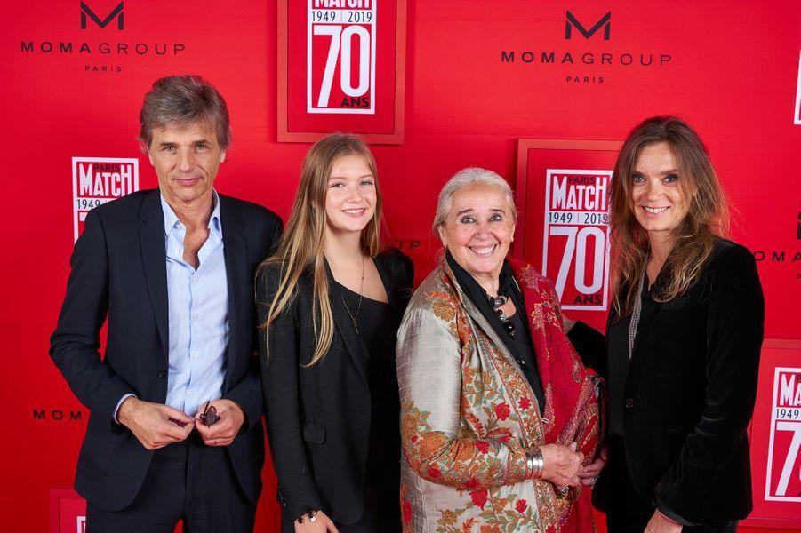 Guy Lagache, Rose Lagache, Astrid Théron et Emilie Théron.