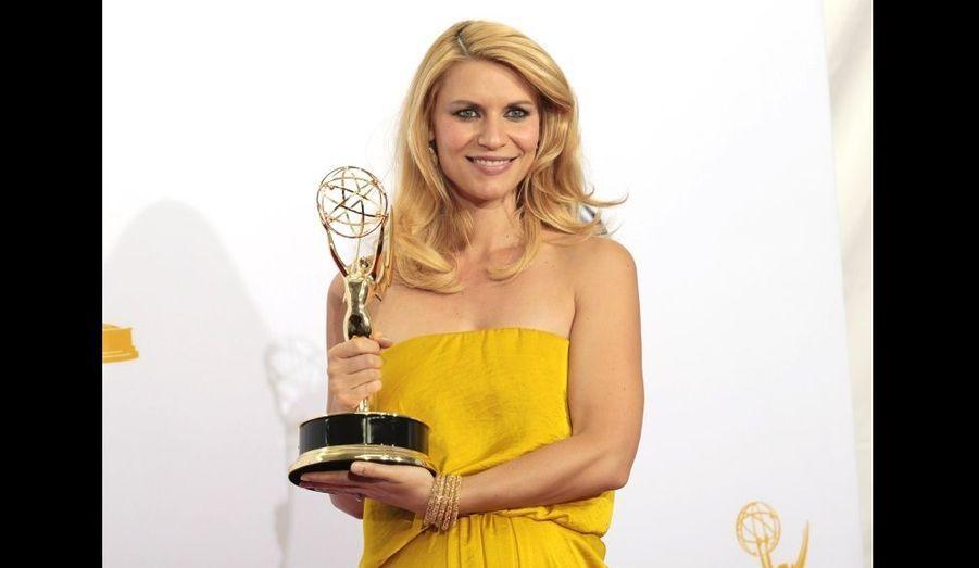 """La comédienne, enceinte, a reçu le prix de la meilleure actrice dans une série dramatique pour """"Homeland""""."""