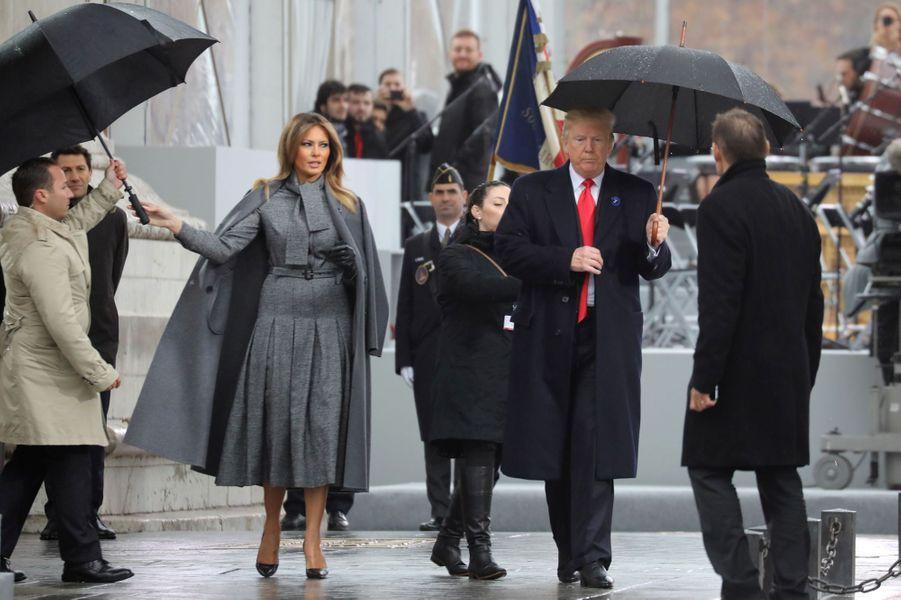Arrivée de Donald et Melania Trump.