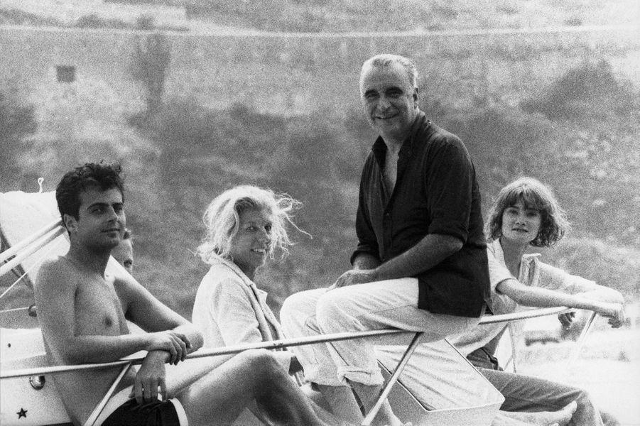 Georges Pompidou et sa famille en vacances au fort de Brégançon.