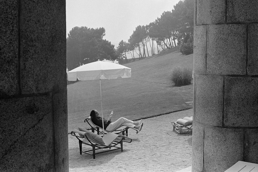 Georges Pompidou en week-end chez les Bettencourt dans l'Arcouest.