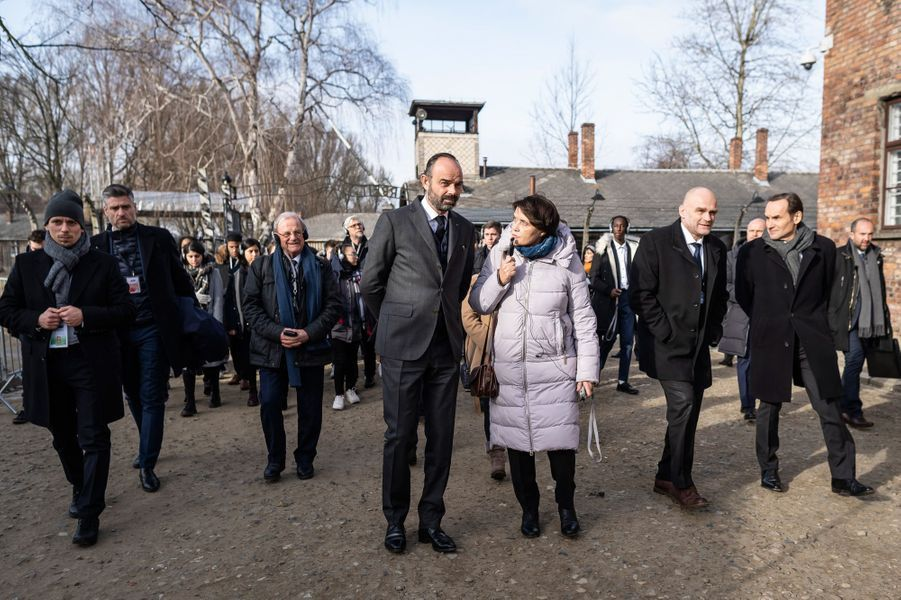 Le Premier ministreEdouard Philippea assisté lundi auxcérémonies du 75e anniversaire de la libération du camp d'Auschwitz-Birkenau.