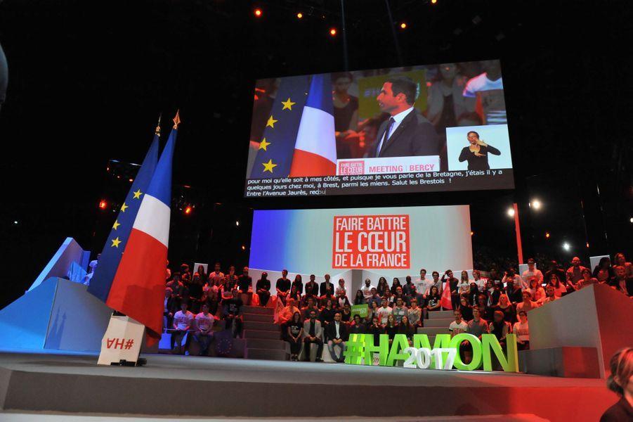 Lors du meeting de Benoît Hamon à Bercy, le 19 mars 2017.