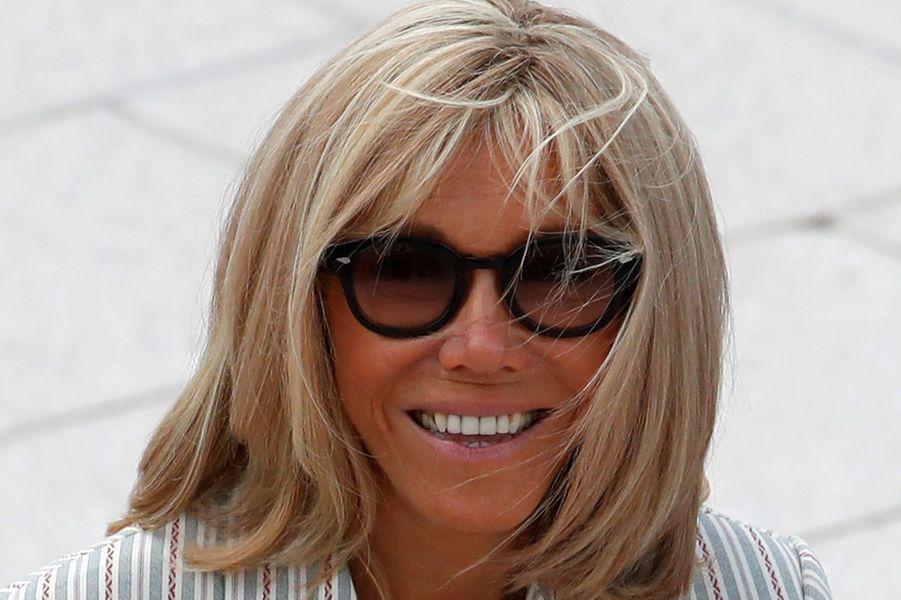 Brigitte Macronsamedi à Biarritz.
