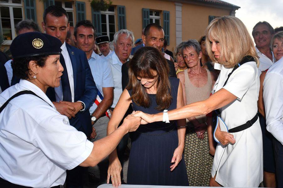 Brigitte Macron samedi àBormes-les-Mimosas