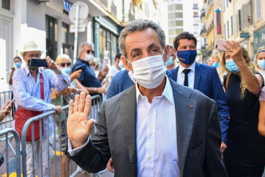 Nicolas Sarkozy le 24 août 2020 à Cannes.