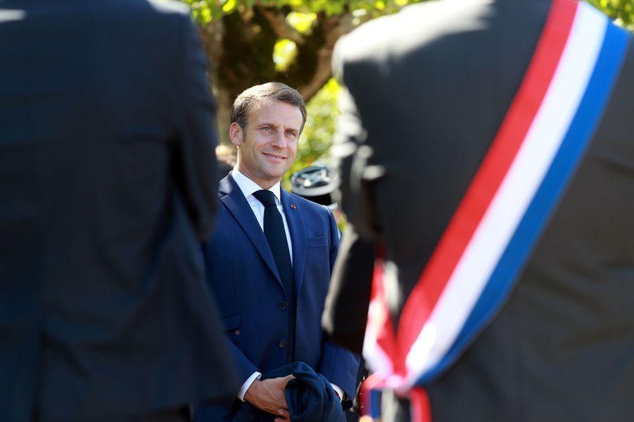 Emmanuel Macron lors de sa visite à Chambord le 22 juillet 2020
