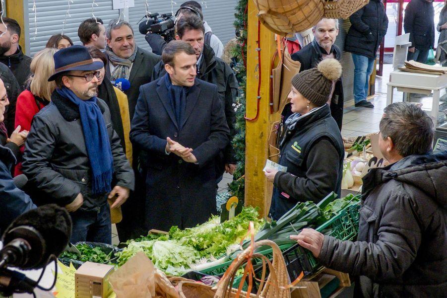 Emmanuel Macron à Clermont-Ferrand, le 7 janvier 2017.
