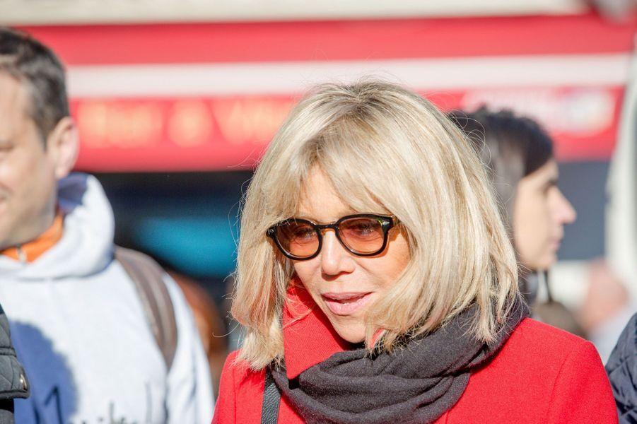 Brigitte Trogneux à Clermont-Ferrand, le 7 janvier 2017.