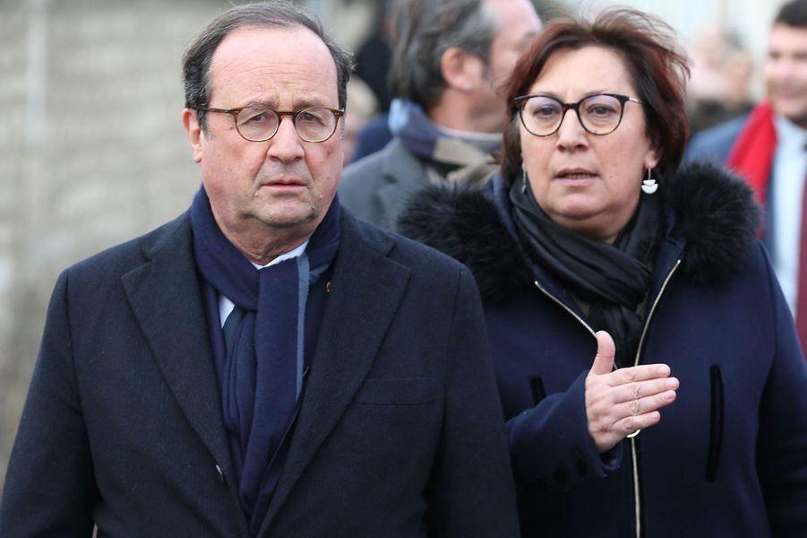 François Hollande etMartine Pinville, ex-députée PS et ex-secrétaire d'État.