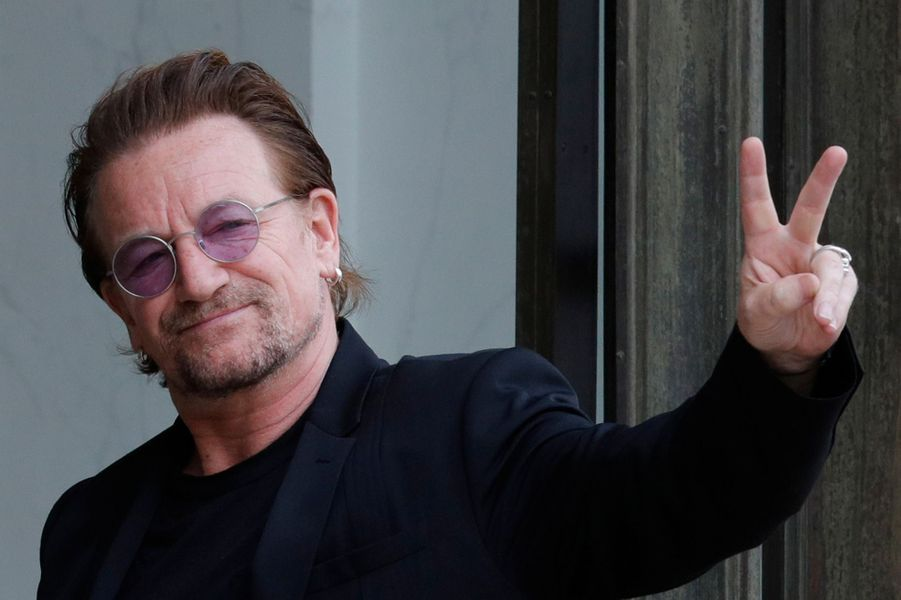 Bono a été reçu à l'Elysée lundi après-midi.