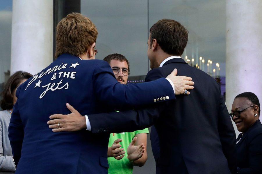 Elton John et Emmanuel Macron à l'Elysée vendredi