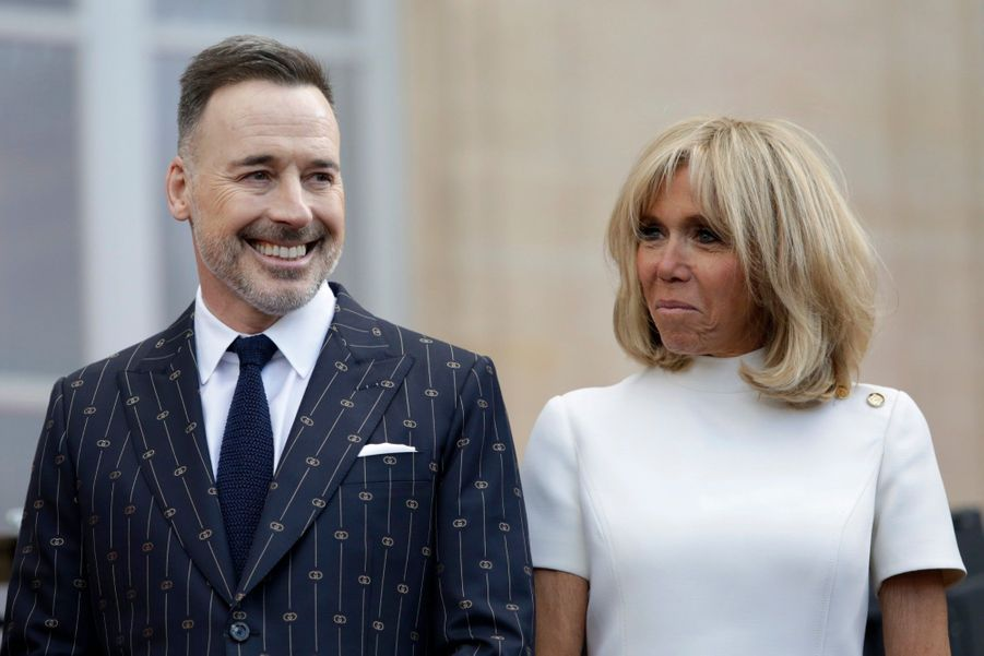 Brigitte Macron et David Furnish, l'époux d'Elton John.