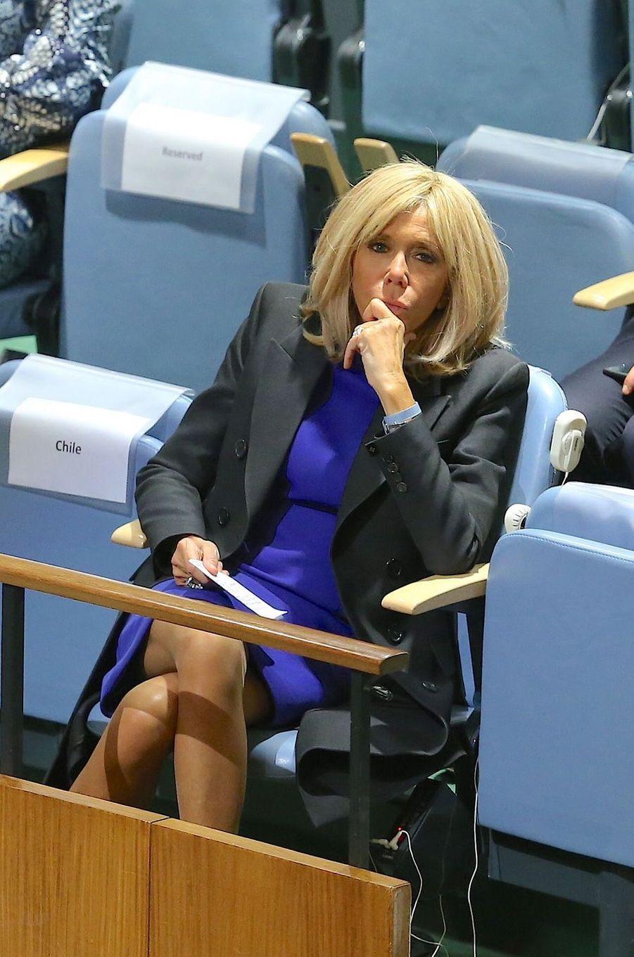 Brigitte Macron mardi au siège de l'ONU.