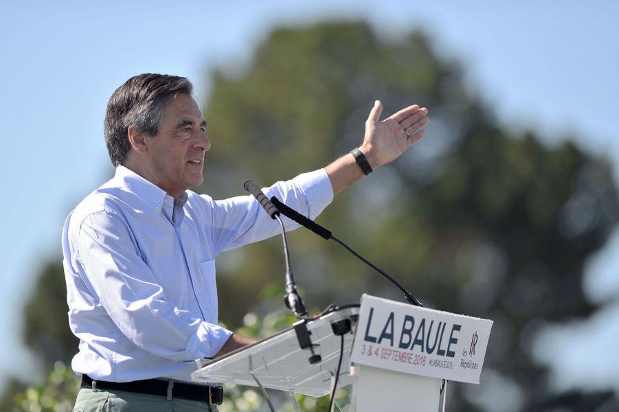 François Fillon à l'université des Républicains à La Baule, le 3 septembre 2016.