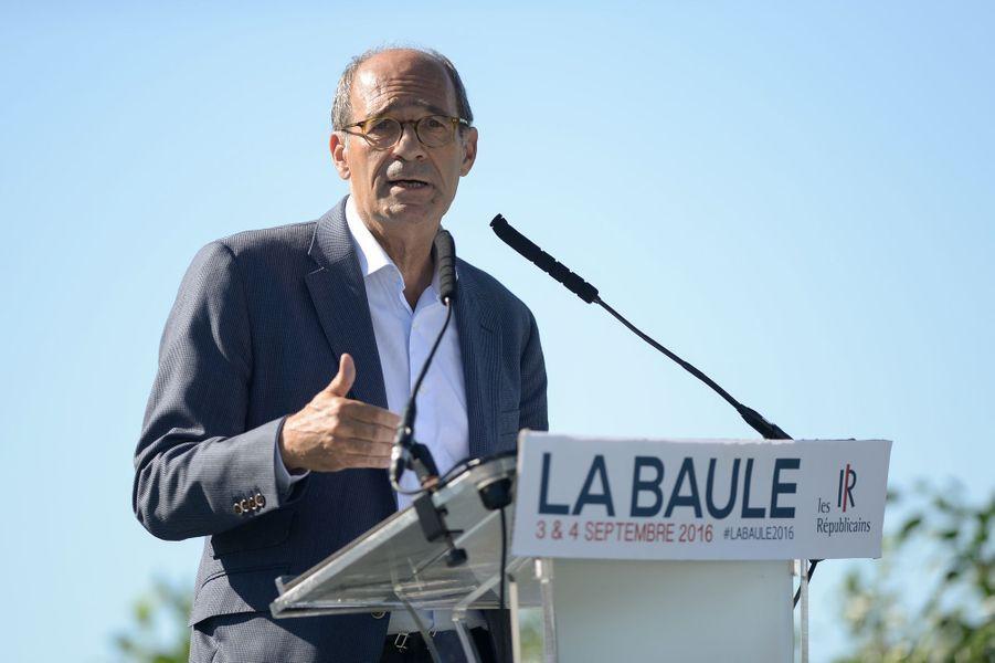 Eric Woerth à l'université des Républicains à La Baule, le 3 septembre 2016.