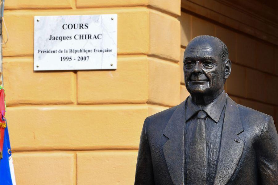 "Inauguration samedi à Nice du ""Cours Jacques Chirac""."