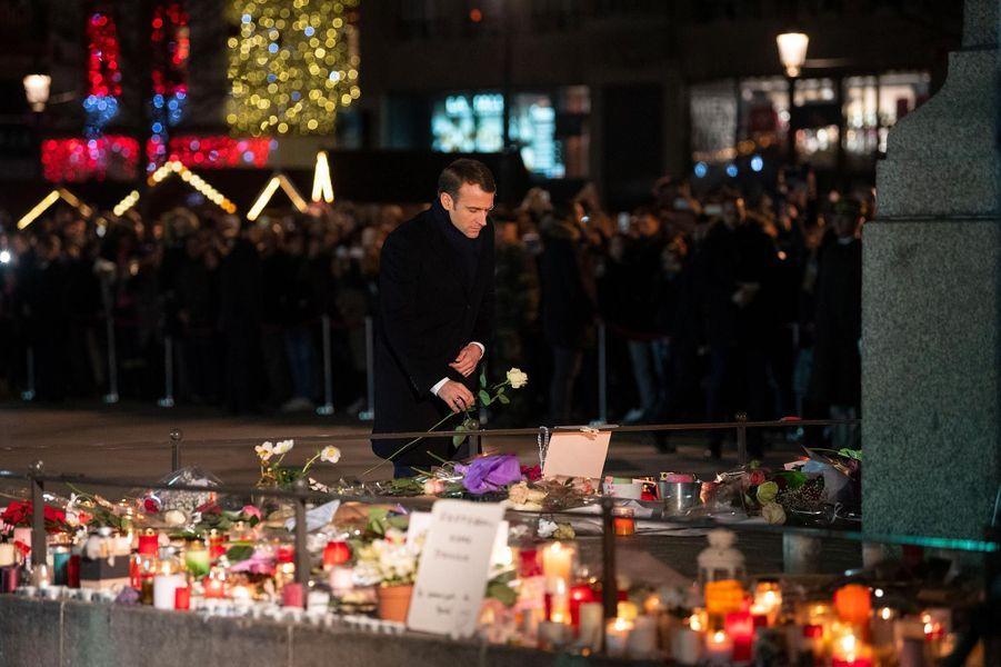 Emmanuel Macron à Strasbourg, le 14 décembre 2018.
