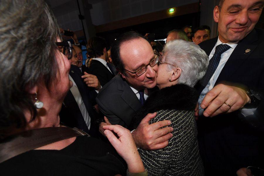François Hollande à Tulle, le 7 janvier 2017.