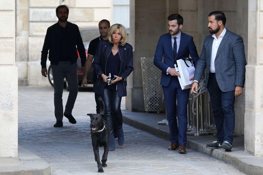 Alexandre Benalla à l'Elysée le 12 octobre 2017