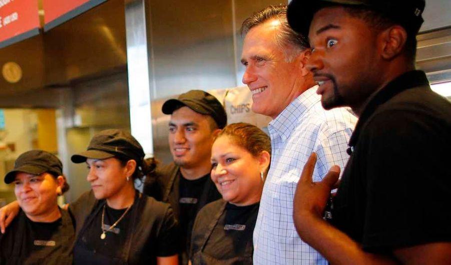 Avec les employés du restaurant