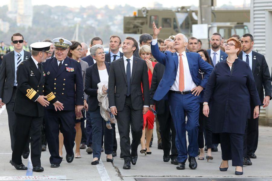 Visite de la base navale deGarden Island à Sydney.