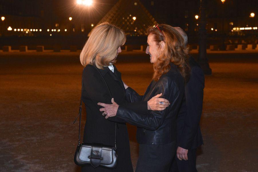 Brigitte Macron et la ministre de la Justice.