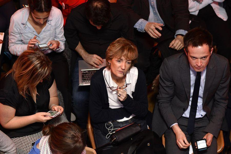 Isabelle Juppé et Pierre-Yves Bournazel, pendant le débat, jeudi soir